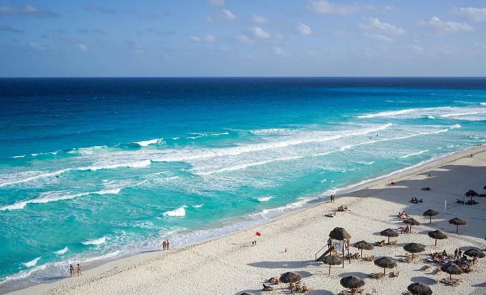 tropikalna plaża w meksyku